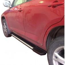 Боковые пороги (подножки) для Toyota Rav 4 XA30 (2006-2013)