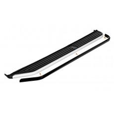 Алюминиевая накладка порога Ленд Ровер Дискавери 3 4 (черная)