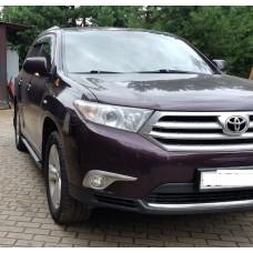 Боковые пороги (подножки) для Toyota Highlander (2007-2014)