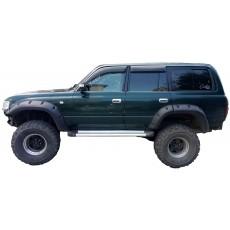 Боковые пороги для Тойота Ленд Крузер 80