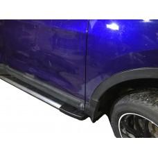 Боковые пороги (подножки) для Nissan Qashqai (2007-2014)