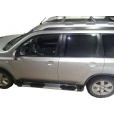 Боковые пороги (подножки) для Nissan X-Trail (2007-2013)