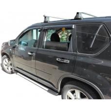 Боковые пороги (подножки) для Nissan X-Trail (2001-2006)