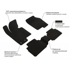 Набор ковриков в салон для Range Rover Sport (2010-2012)